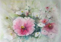 Blumen, Schmuckkörbchen, Blüte, Aquarell
