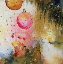 Tannenbaum, Licht, Weihnachten, Kugel