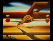 Malerei, Ölmalerei, Surreal, Kreuzigung