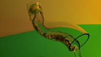 Rohr, Wasser, Digitale kunst, Digitale gemälde