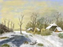 Weihnachten, Winter, Schnee, Digitale kunst