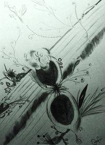 Bleistiftzeichnung, Abstrakt, Zeichnung, Surreal