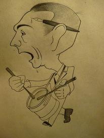 Bleistiftzeichnung, Zeichnungen, Karikatur