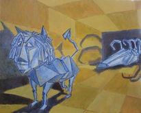 Surreal, Figural, Acrylmalerei, Malerei