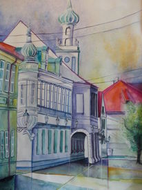 Kroatien, Osijek, Dekoration, Stadtansicht