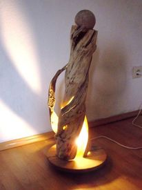 Lichtobjekt, Holz, Beleuchtung, Kunsthandwerk