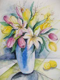 Rosa, Vase, Pflanzen, Stillleben