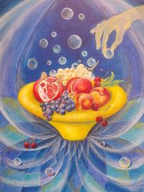 Granatapfel, Matrix, Früchte, Trauben