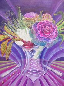 Vase mit gemüse, Fasten, Wirsing, Fenchel