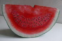 Wassermelone, Objekt, Holz, Kunsthandwerk