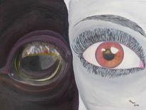 Menschen, Pferde, Ölmalerei, Augen