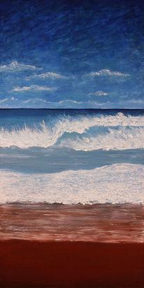 Meer, Acrylmalerei, Malerei, Blick