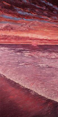 Acrylmalerei, Abstrakt, Meer, Malerei