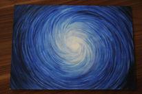 Licht, Blau, Schwarz, Acrylmalerei