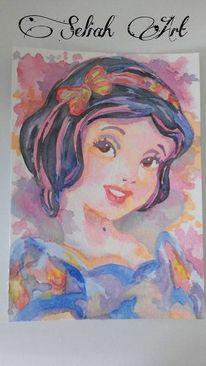 Aquarellmalerei, Fantasie, Malerei, Schneewittchen