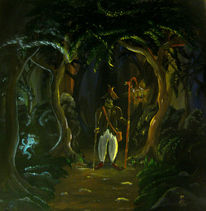 Nachtwächter, Irrlicht, Fantasie, Wanderung