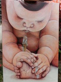 Ölmalerei, Gulliver, Skuril, Figural