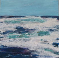 Malerei, Süd, Afrika, Küste