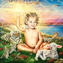 Sonne, Christ, Paradies, Kreuz