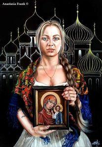 Visioanaryart, Heilige mutter, Orthodox, Sacredart