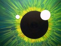 Ölmalerei, Kreis, Abstrakt, Malerei