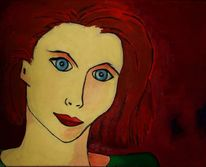 Minimalistisch, Ölmalerei, Portrait, Malerei