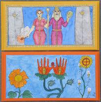 Symbolismus, Zeichnung, Mischtechnik