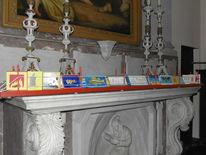 Kartenständer, Installation, Karte, Kirche