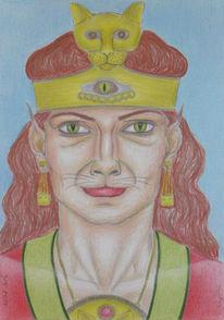 Symbolismus, Zeichnung, Polychromos, Mythologie