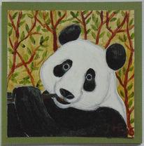 Panda, Dankkarte, Ex voto, Malerei