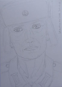 Soldat, Vorstellung, Skizze, Zeichnungen