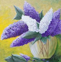 Vase, Flieder, Fliederstrauß, Blumenstrauß