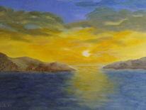 Wolken, Sonne, Meer, Wasser