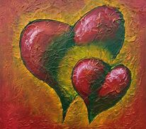 Herz, Gelb, Struktur, Malerei