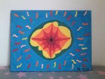 Wurmloch, Acrylmalerei, Wurm, Malerei