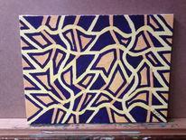 Labyrinth, Acrylmalerei, Gelbkomplementäres, Malerei