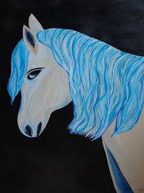 Blau, Pferde, Fantasie, Malerei