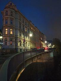 Stadt, Nacht, Fotografie