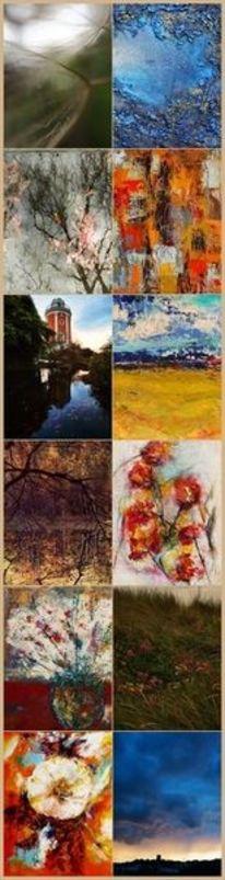 Fotografie, Acrylmalerei, Kalender