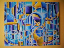 Ölmalerei, Stillleben, Abstrakt, Malerei