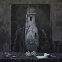 Surreal, Figural, Malerei, Portrait