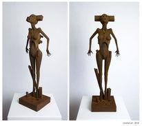 Surreal, Figural, Rost, Skulptur