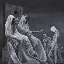 Surreal, Malerei, Figural, Acrylmalerei