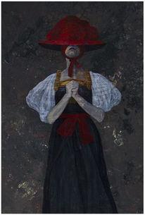 Dunkel, Figural, Düster, Acrylmalerei