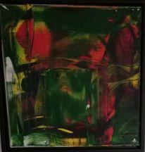 Komposition, Rot, Acrylmalerei, Malerei
