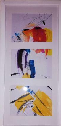 Vertikal, Abstrakt, Komposition, Malerei
