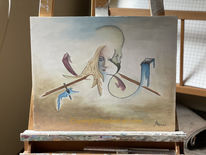 Hadesl, Maske, Ölmalerei, Hadesl one