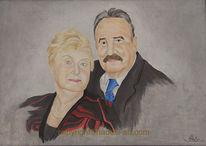 Portrait, Hadesl, Mann, Ölmalerei