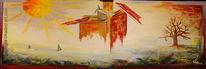 Traum, Fabrik, Acrylmalerei, Hadesl