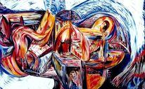 Eintauchen, Unten, Acrylmalerei, Wiederkehr